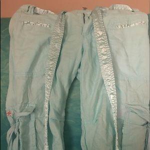 Miss Me linen blue cargo pant